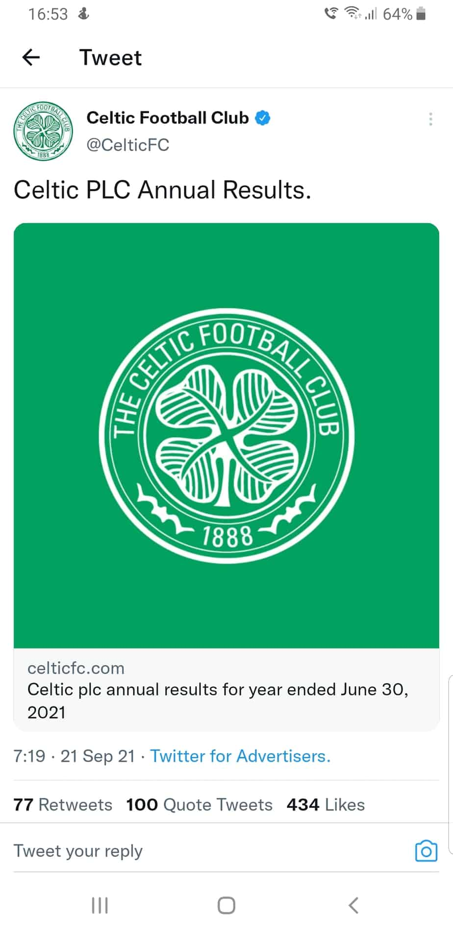 Rugger Guy looks at Celtic's year end accounts for 2021